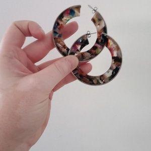 Free People resin earrings!